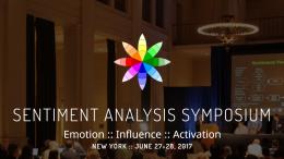 Sentiment Analysis Symposium