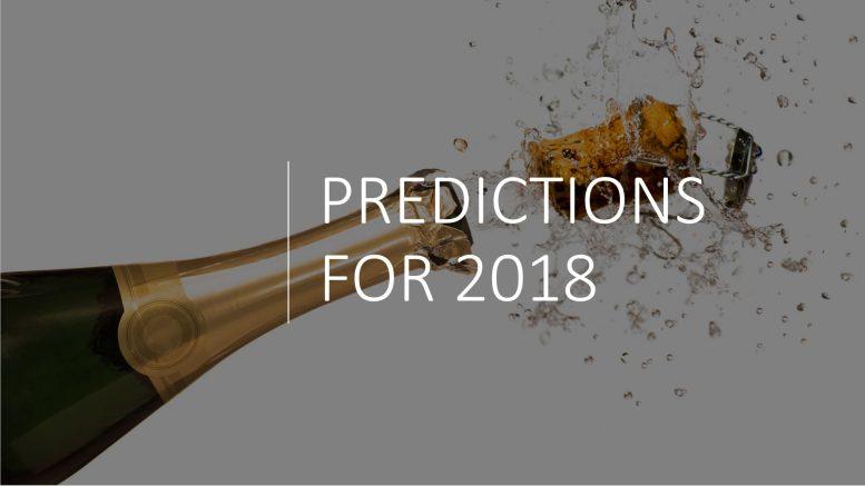 PREDICITONS 2018